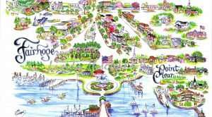 Map of Things To Do in Fairhope, AL