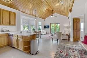 Azalea Suite Kitchen and Living, Jubilee Suites in Fairhope, AL
