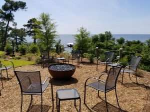 Jubilee Suites Fairhope, AL- Firepit on Bluff