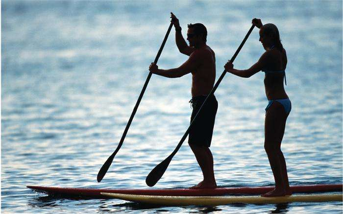 Paddleboarding at Jubilee Suites in Fairhope, AL