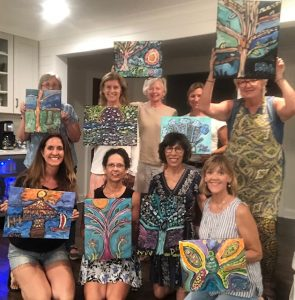 Painting party at Jubilee Suites