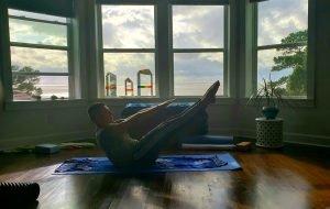 Yoga class at Jubilee Suites in Fairhope, AL