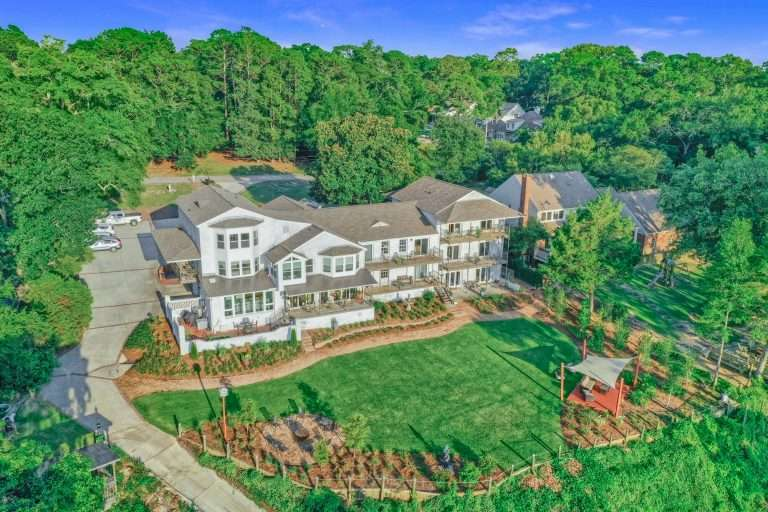 Aerial view of Jubilee Suites in Fairhope, AL