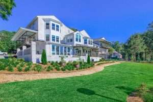 Backyard bluff at Jubilee Suites in Fairhope, AL