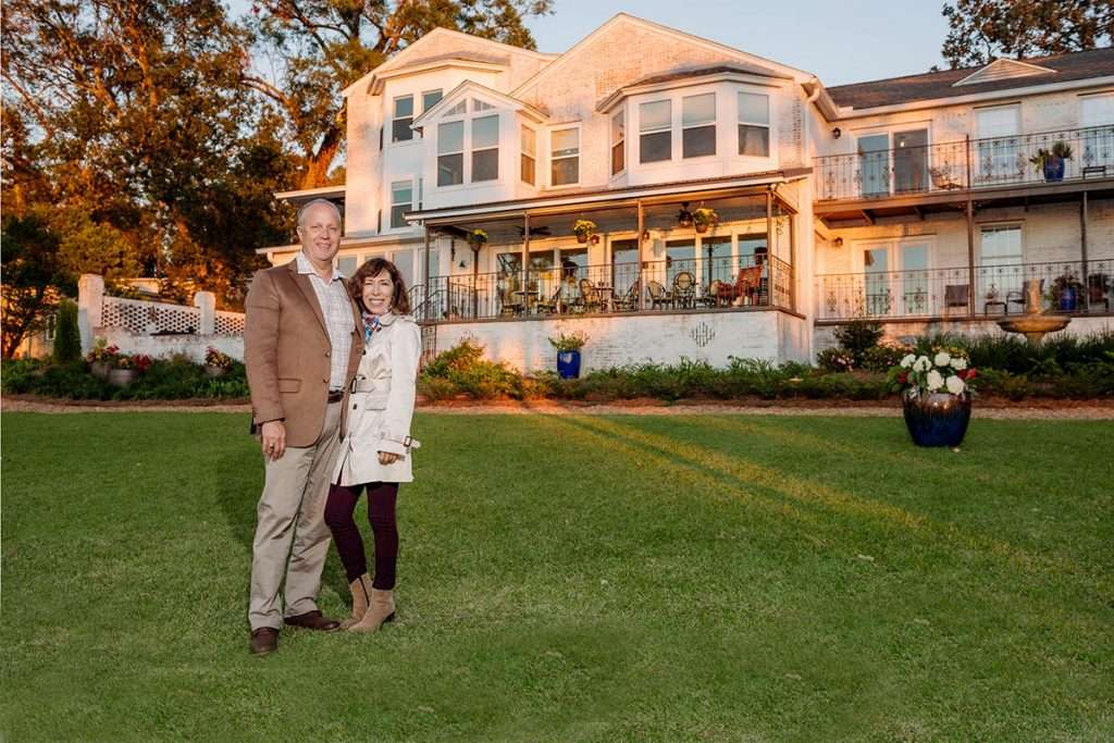 Jim and Dana Maloney, owners of Jubilee Suites in Fairhope, AL