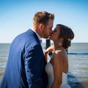 Happy Couple Getting Married at Jubilee suites in Fairhope, AL